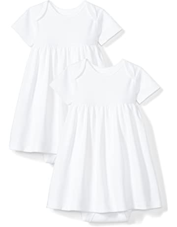 4249f39f6d60a Moon and Back Baby Girls' Set of 2 Organic Short-Sleeve Dresses