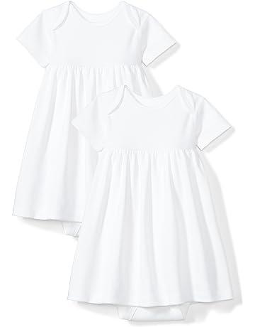 537586baa Moon and Back Baby Girls' Set of 2 Organic Short-Sleeve Dresses