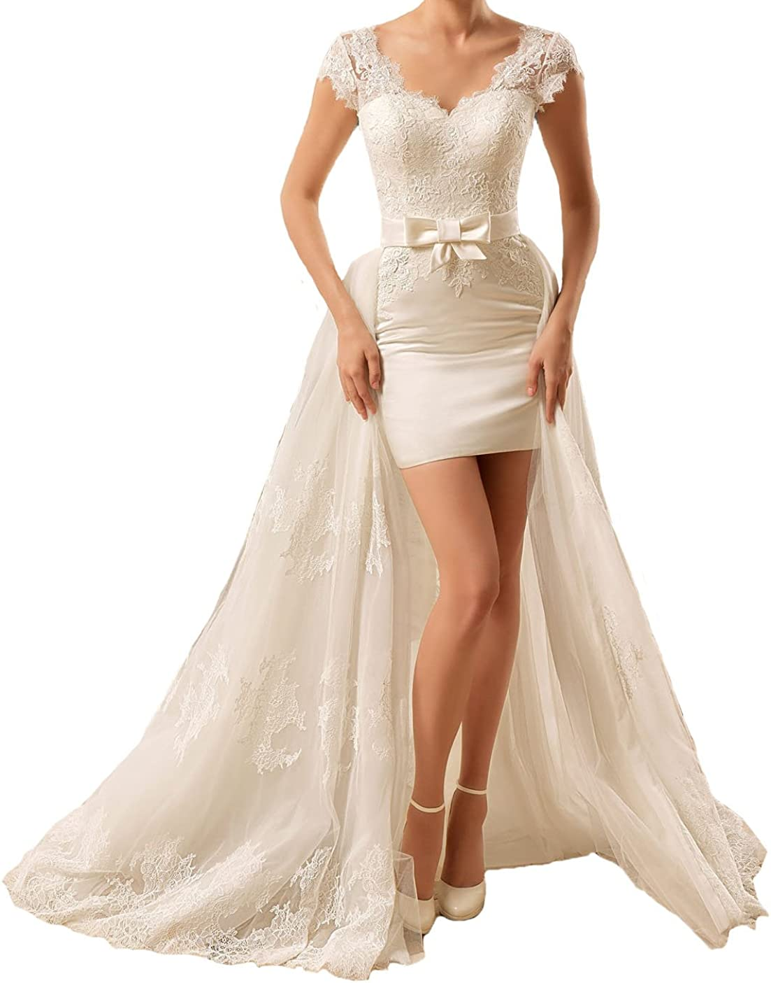 Short Dress With Train Off 74 Cheap Price