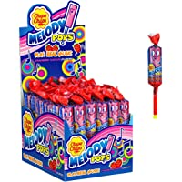 Chupa Chups Strawberry Melody Lollipops, 48 Lollipops, Unique Treat Ideal for Sharing and Parties, 48 x 15 g, Strawberry