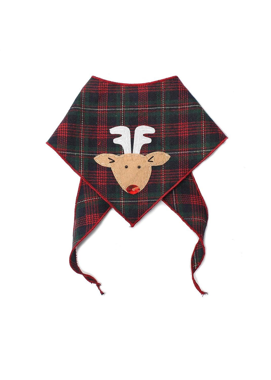 Designer Appliques 100/% Cotton Tail Trends Christmas Dog Bandanas Santa Claus, Snowman, Rudolph