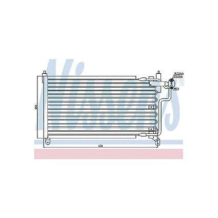 Nissens 94227 Condenser, air conditioning