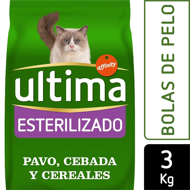 Ultima Pienso para Gatos Esterilizados Bolas de Pelo - 3 kg