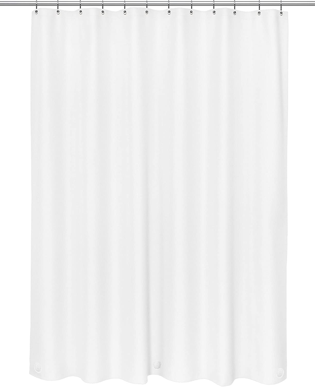 Carnation Home Fashions 2 Pack 10 Gauge Peva Shower Curtain Liners, 72X72, White