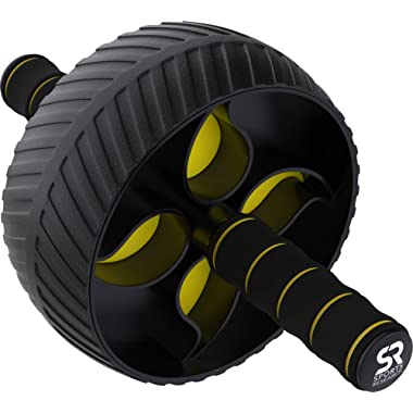 Sports Research Sweet Sweat Ab Wheel   Abdominal Exercise Wheel for Core Strength Training   with Knee Pad