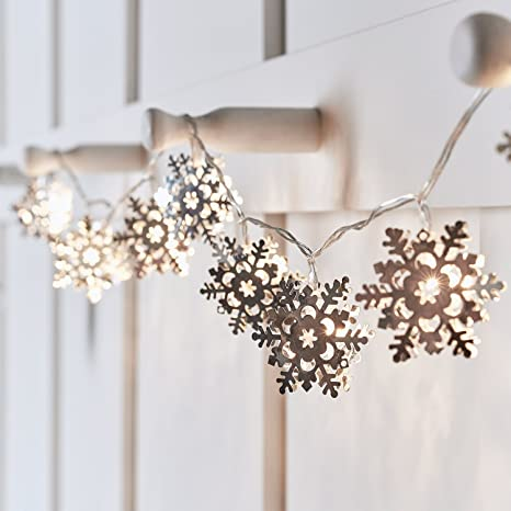 Amazon.com: 10 luces LED de cadena de Navidad para interior ...