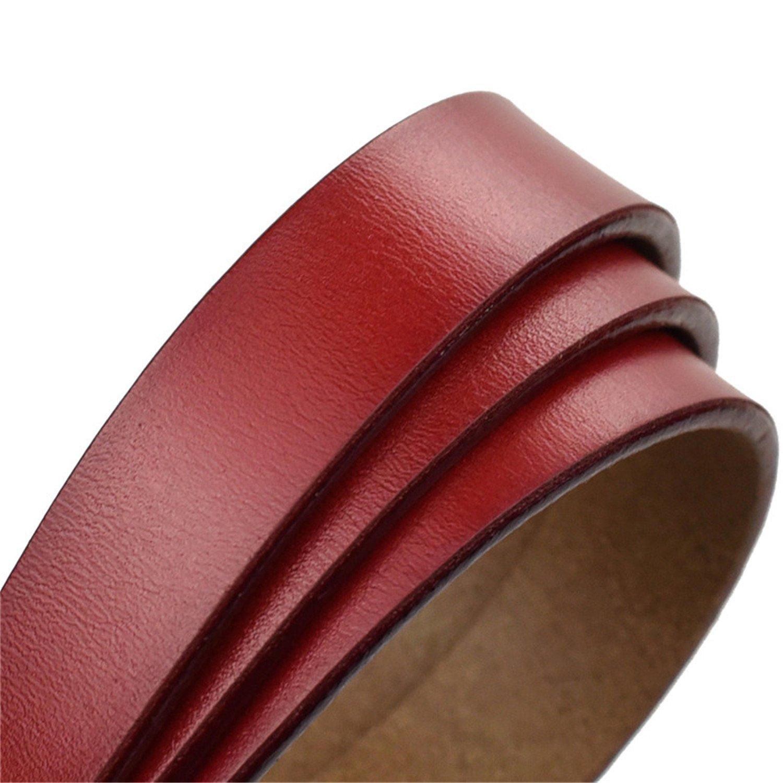 Castjones Fashion Belts For Women 2018 Fashion Round Buckle Thin Gunuine Leather Belts For Women