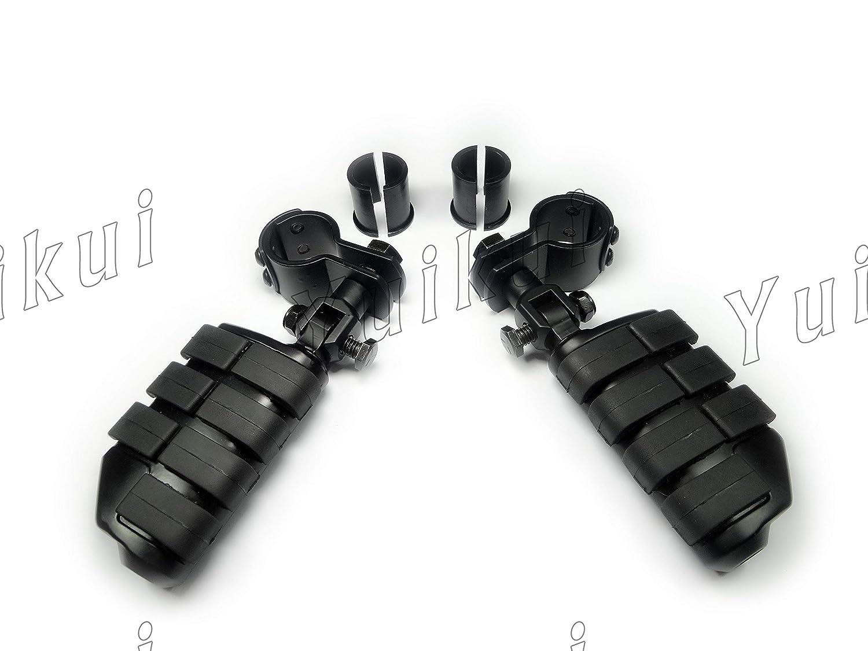 YUIKUI RACING オートバイ汎用 ハイウェイフットペグ タンデムペグ ステップ 32mm/25.4mmエンジンガードのパイプ径に対応 Honda/Yamaha/Kawasaki/suzuki/ハーレー等適用   B07H1P7G5V