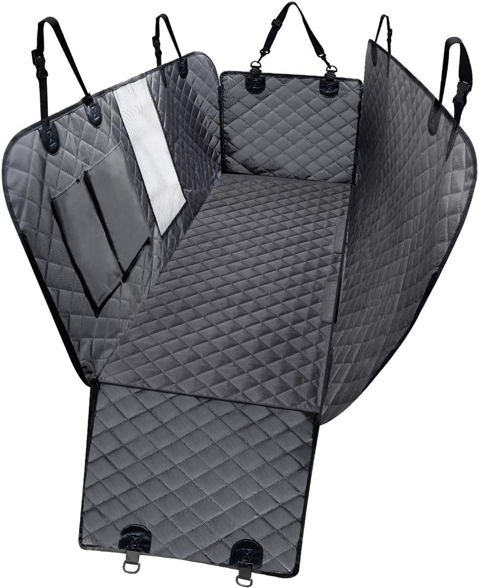 DKIIGAME Dog Car Seat Covers, Dog Car Hammock with Mesh Window, Heavy Duty Car Seat Covers for Dogs,100 Waterproof Anti-Slip 600D Oxford Cloth Dog Seat Cover for Back Seat