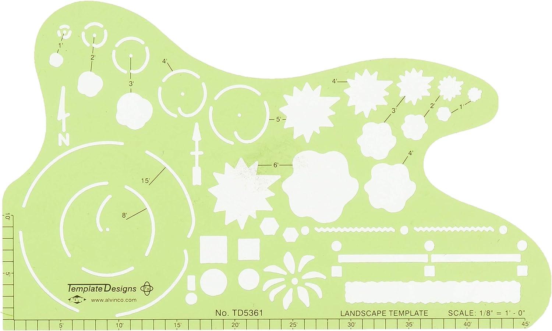 Alvin TD5361 Landscape Design Template: Arts, Crafts & Sewing