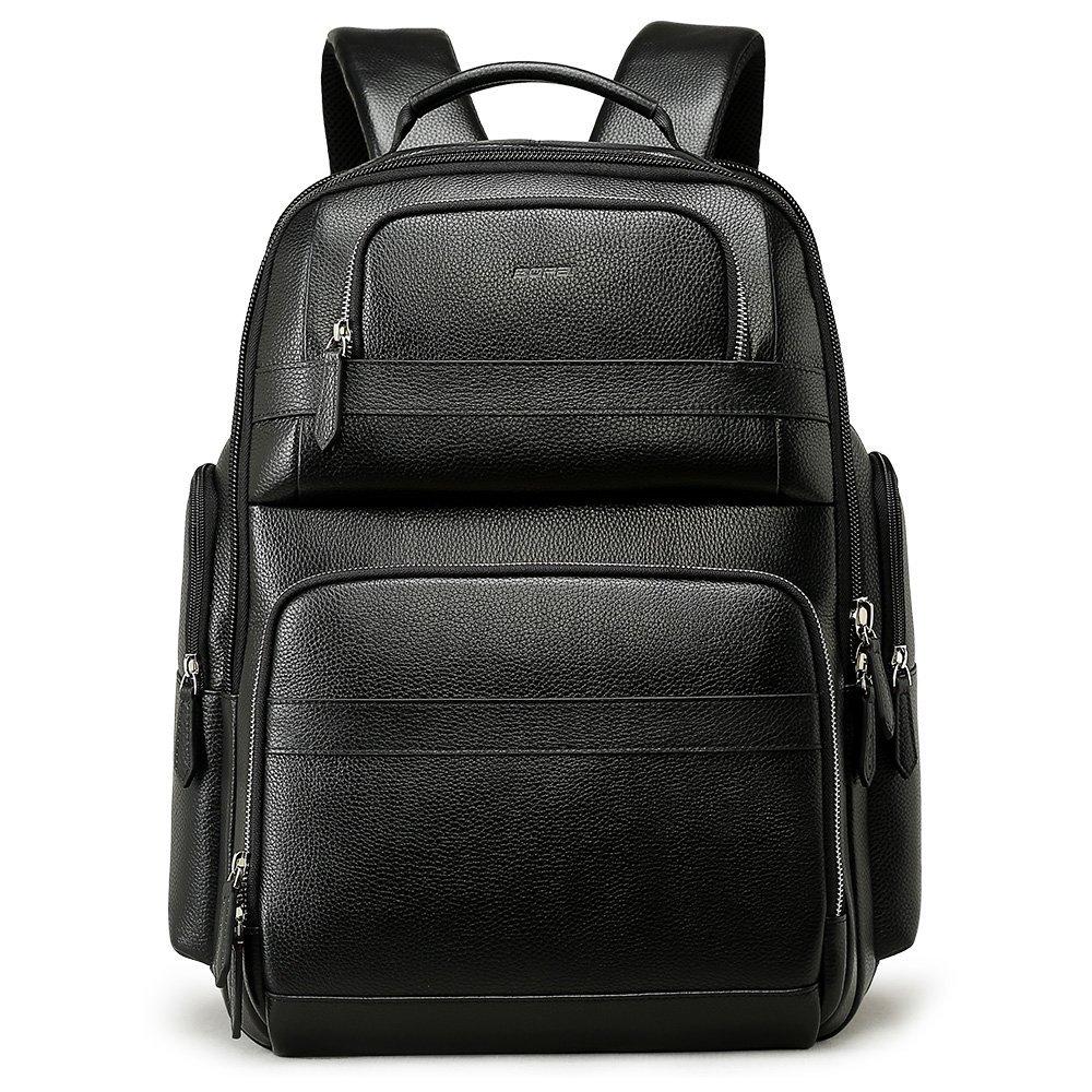 Bopai 40L レザーバックパック メンズ 15.6インチ ノートパソコンバックパック USB充電 ビジネス 旅行 バックパック メンズ B07G2GKPXF