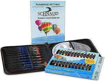 SCHNAUD acrílico de Colores de Juego, 24 Colores + 12 + ...