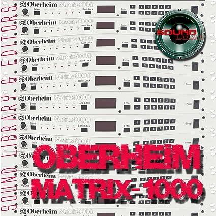 OBERHEIM Matrix 1000 Huge Sound Library & Editors