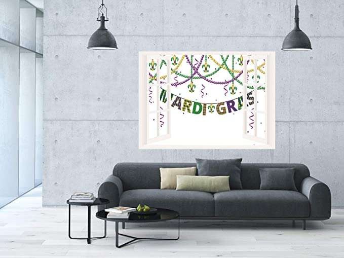 Amazon.com: SCOCICI Removable Wall Sticker/Wall Mural/Mardi ...