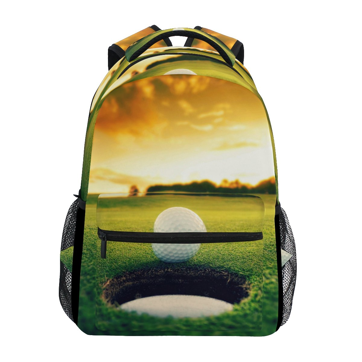 LORVIES Golf Ball Near Hole Casual Backpack School Bag Travel Daypack