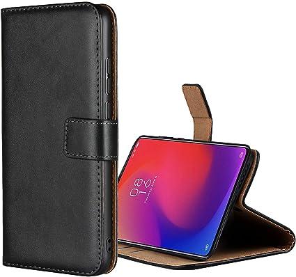 COVER per Xiaomi Mi 9T CUSTODIA PORTAFOGLIO in PELLE Nero Leather Case Premium