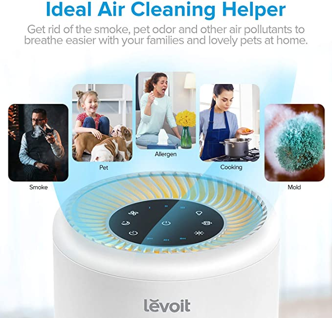 LEVOIT Purificador de Aire Portátil con Filtro HEPA para Hogar y ...