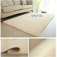 Coofig Super Soft Indoor Modern Thickened Washing Silky Smooth Fur Rugs Anti-Skid Shaggy Rugs Dining Room or Bedroom Carpet Floor Mat
