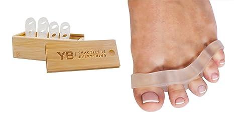 Separadores para los Dedos de los Pies de Yogabody. 2 Pares de Separadores hechos de Silicona. No Contiene Látex. Diseñados Para Mejorar la Postura ...