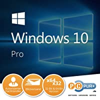 MS Microsoft Windows 10 Pro 1PC Original 32/64-Bit