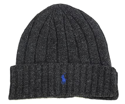 Polo Ralph Lauren Lambs Wool Beanie Hat Cap-Dark Gray Blue at Amazon ... 59777849f89