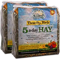 Tigerbox 2 Kilogram Natures Own Timothy Rich 5 a Day Hay Foraging Feed for Rabbits Guinea Pigs Chinchillas