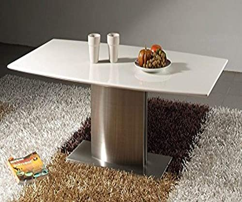 Creative Images International Minimalist Collection White Marble Top Coffee Table