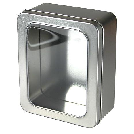 Kleine Caja de metal con ventana en la tapa, alimentos Adecuado, de Caja Fragrance