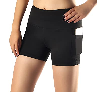 71ba775027 Amazon.com: Sugar Pocket Women's Side Pockets Running Shorts Pants ...