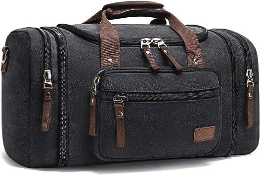 Mens Travel Bags Waterproof Large Capacity Duffel Bags Luggage H bag Casual Black Shoulder Bag Tote Large Black