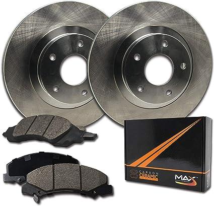 Max Brakes Front Premium OE Rotors and Ceramic Pads Brake Kit KT055641-1