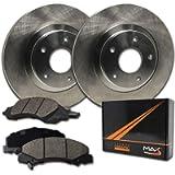 Max Brakes Front Premium OE Rotors and Ceramic Pads Brake Kit | KT044541-8