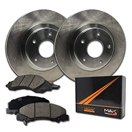 Rear Disc Rotors /& Ceramic Brake Pads Fits Lexus Toyota Avalon Camry ES350