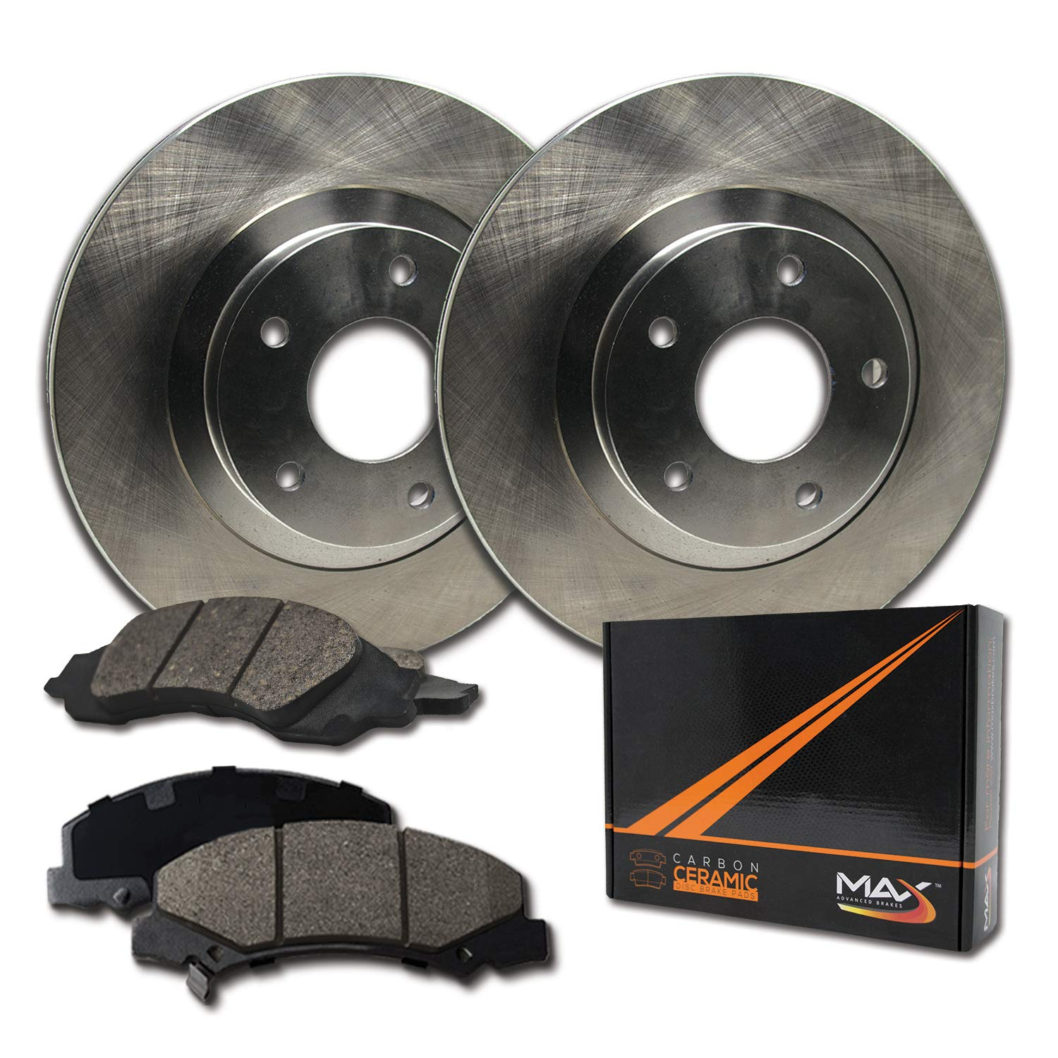 OE Series Rotors + Ceramic Pads Max Brakes Front Premium Brake Kit KT012641 Fits: 2002 02 2003 03 2004 04 Chevy Avalanche 1500