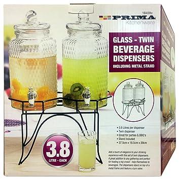 Crystals® - Dispensador de bebidas frías (2 x 3,8 l, doble