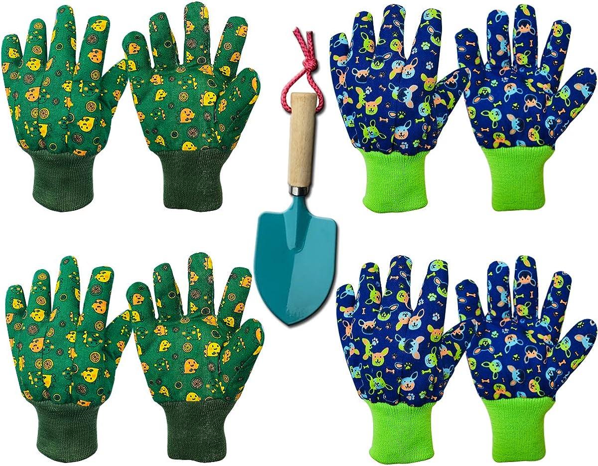 Kids Gardening Work Gloves Cotton Garden Soft Jersey Gloves