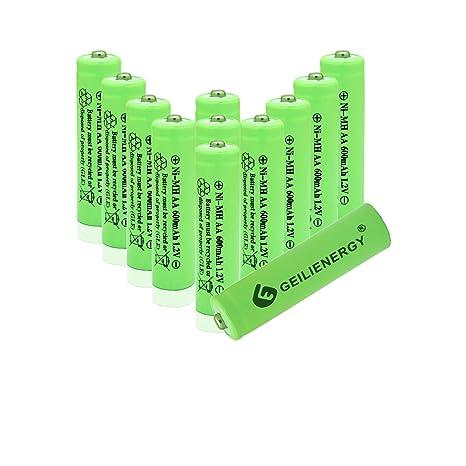 Amazon.com: GEILIENERGY 1.2v AAA Nimh 600mAh batería ...