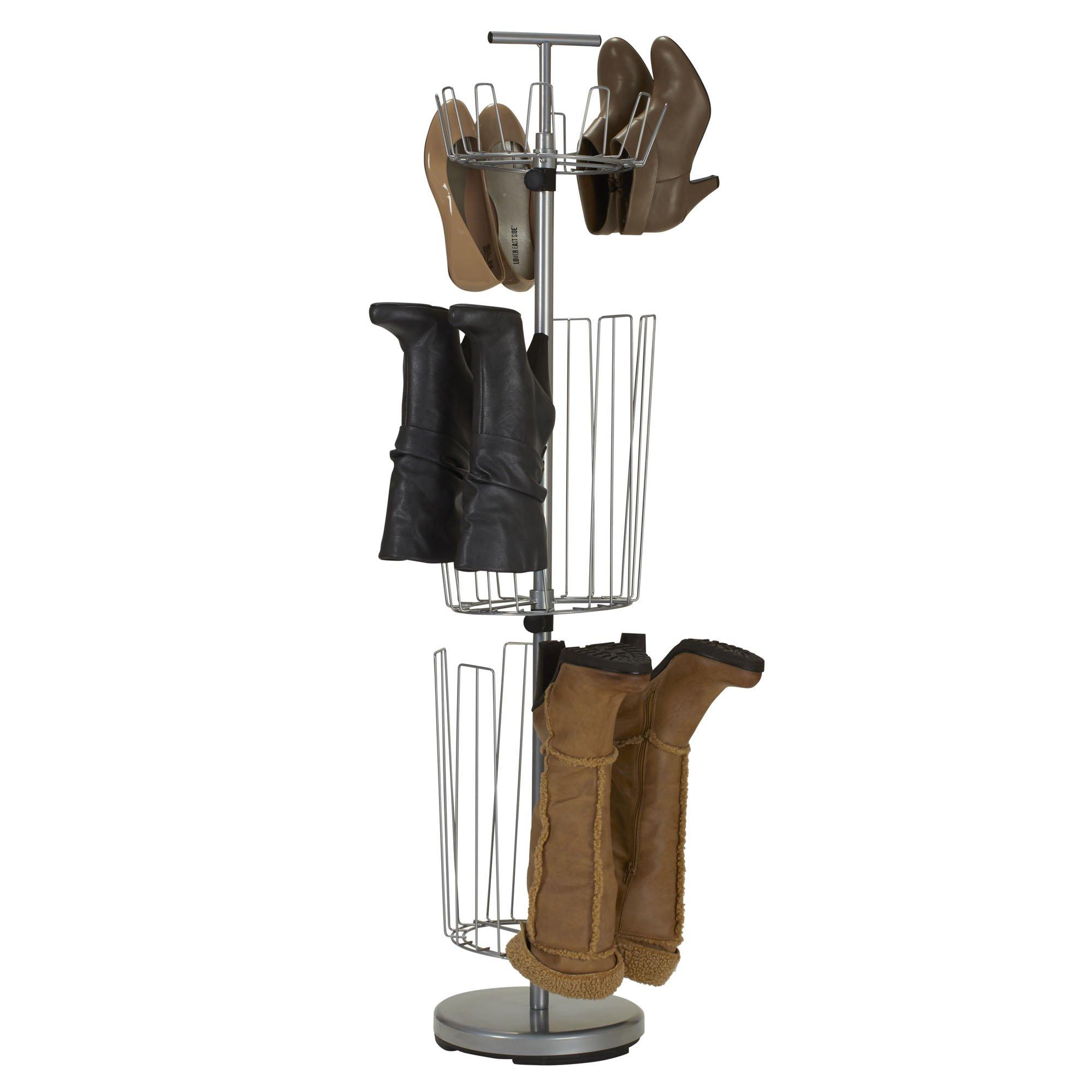Household Essentials 2132 1 Metal 3 Tier Revolving Shoe