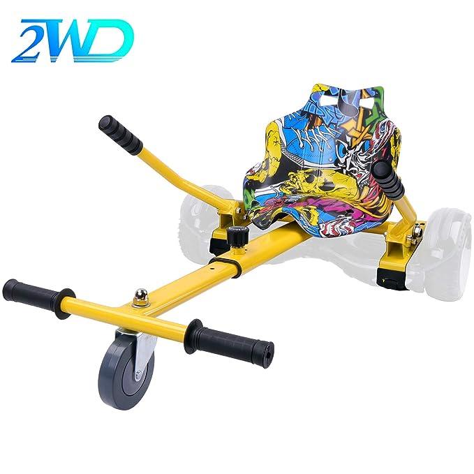 2WD Hoverkart para Hoverboard, Go-Kart Conversión Kit Patinete Eléctrico, Longitud Ajustable, Compatible con Todos Los Hoverboards - Hoverboard No ...