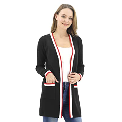 BENANCY Women's Long Open Front Casual Maxi Long Sleeve Cardigan Sweater with Pocket at Women's Clothing store