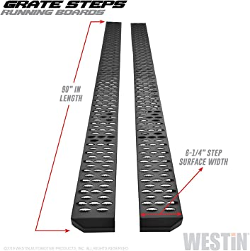 Westin 27-70015 Grate Step Textured Black Hitch Step fits 2in Receiver 1 Pack