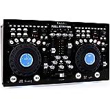 Ibiza Full-Station - Controlador de DJ (CD, USB, MP3, SD, tipo scratch, 2 canales), color negro