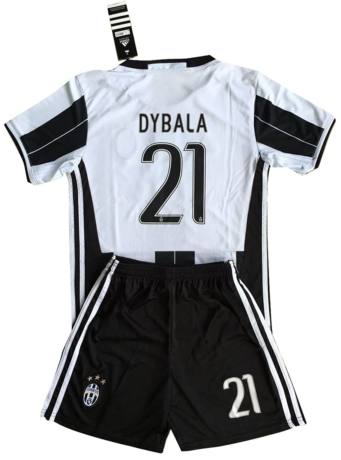 5eb1b00be1d ... 10 Paulo Dybala Blue Away Authentic Jersey Amazon.com Dybala 21 Juventus  2016-2017 KidsYouths Home Soccer Jersey Shorts Clothing ...