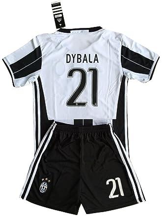 Dybala #21 Juventus 2016-2017 Kids/Youths Home Soccer Jersey \u0026 Shorts (