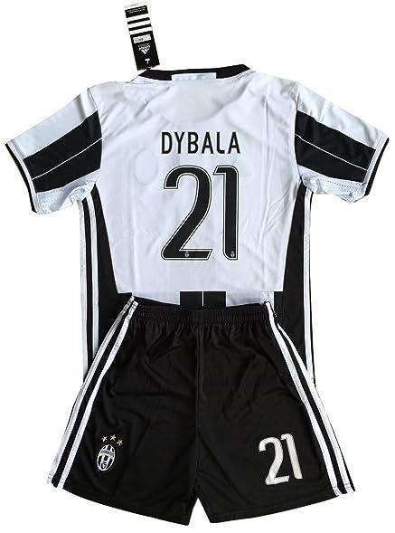 38073e10fc0 ... greece dybala 21 juventus 2016 2017 kidsyouths home soccer jersey  shorts 559f7 74ef3