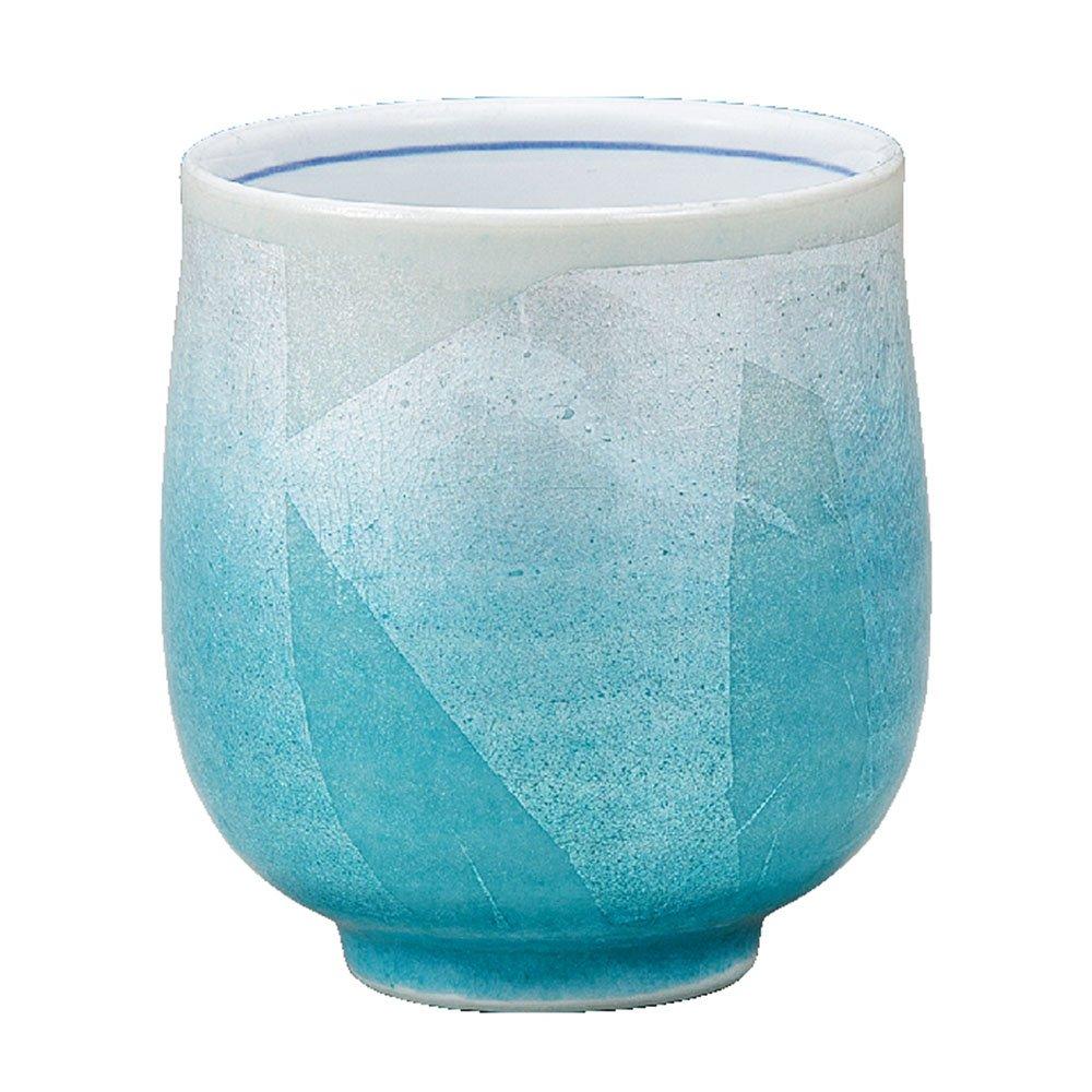 Kutani Yaki(ware) Japanese Yunomi Tea Cup Silver Leaf by Kutani