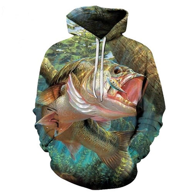 Susie Zechariah Anime Hoodies Fish 3D Hoodie Printed Hoody Men Sweatshirt Pullover Tracksuit S-6Xl
