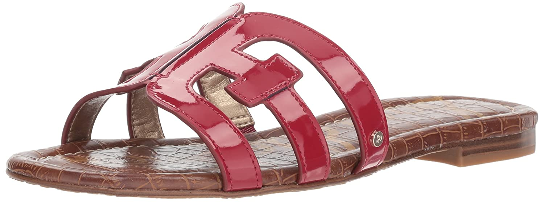 Sam Edelman Women's Bay Slide Sandal B07D3M53WR 8 M US|Deep Red Patent