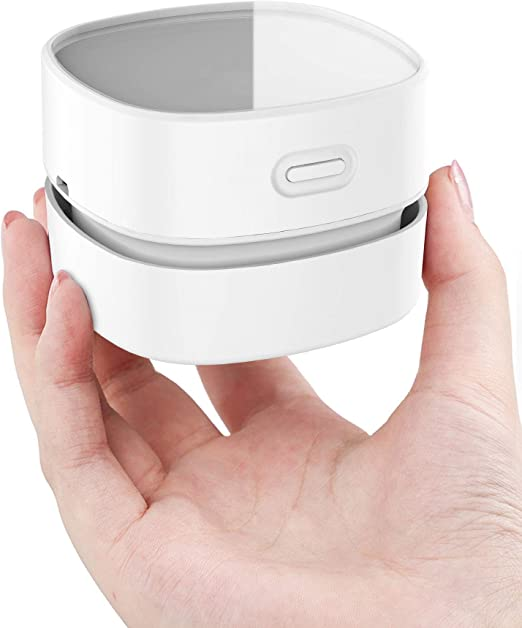 HUOLEO Carga USB Pequeño Escritorio Robot Aspirador, Creativo ...