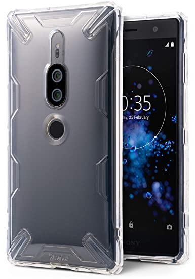 huge discount aeb79 18331 Ringke [Air-X] Case Compatible with Xperia XZ2 Premium Lightweight  Transparent TPU Protective Case Scratch Resistant Supports QI Wireless  Charging ...